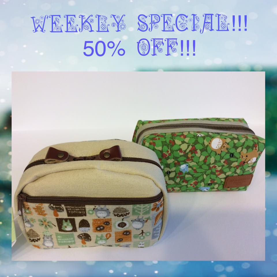 WEEKLY SPECIAL!Totoro pouches are 50%OFF
