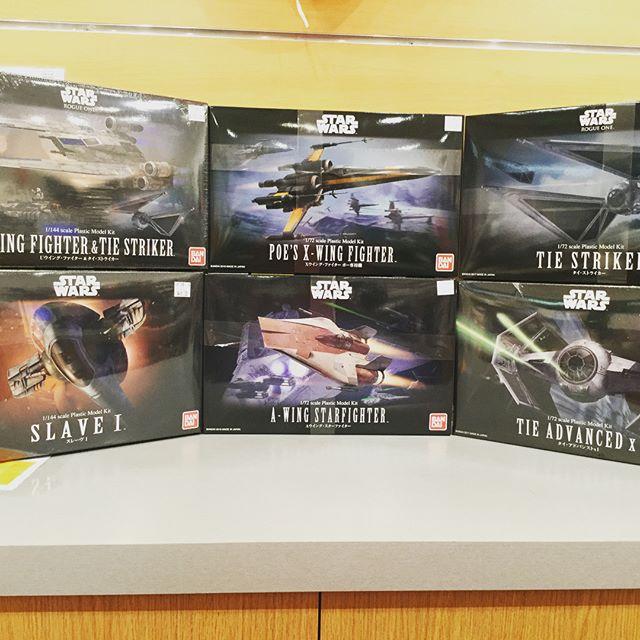 A selection of Bandai Star Wars model kits! | Hakubundo Inc